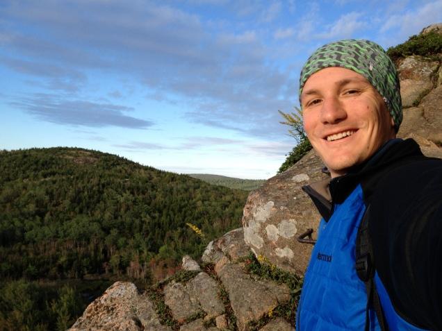 Acadia NP Beehive Summit Trail Selfie